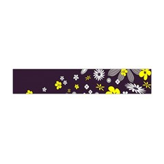 Vintage Retro Floral Flowers Wallpaper Pattern Background Flano Scarf (Mini)