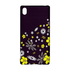 Vintage Retro Floral Flowers Wallpaper Pattern Background Sony Xperia Z3+