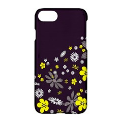 Vintage Retro Floral Flowers Wallpaper Pattern Background Apple Iphone 7 Hardshell Case