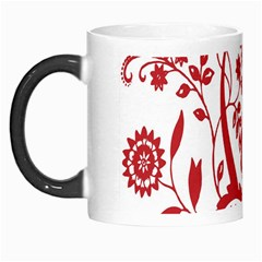 Red Vintage Floral Flowers Decorative Pattern Clipart Morph Mugs