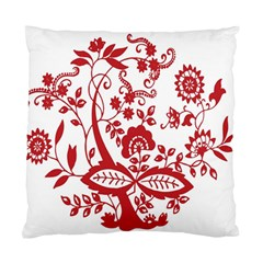 Red Vintage Floral Flowers Decorative Pattern Clipart Standard Cushion Case (Two Sides)
