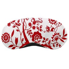 Red Vintage Floral Flowers Decorative Pattern Clipart Sleeping Masks