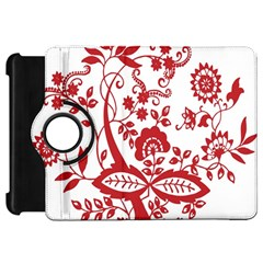 Red Vintage Floral Flowers Decorative Pattern Clipart Kindle Fire HD 7