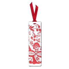 Red Vintage Floral Flowers Decorative Pattern Clipart Small Book Marks