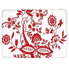 Red Vintage Floral Flowers Decorative Pattern Clipart Samsung Galaxy Tab 7  P1000 Flip Case