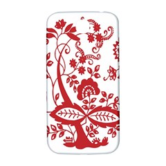 Red Vintage Floral Flowers Decorative Pattern Clipart Samsung Galaxy S4 I9500/I9505  Hardshell Back Case