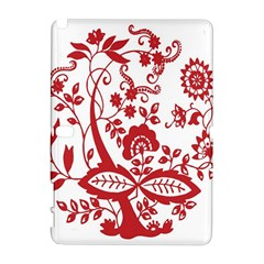 Red Vintage Floral Flowers Decorative Pattern Clipart Galaxy Note 1