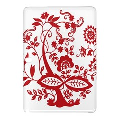 Red Vintage Floral Flowers Decorative Pattern Clipart Samsung Galaxy Tab Pro 10.1 Hardshell Case