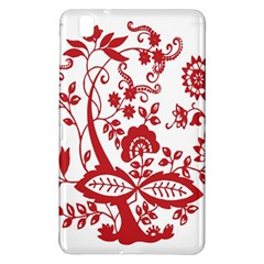 Red Vintage Floral Flowers Decorative Pattern Clipart Samsung Galaxy Tab Pro 8.4 Hardshell Case