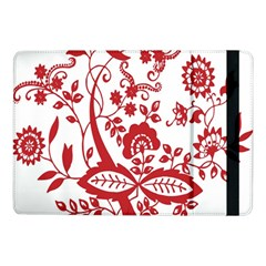 Red Vintage Floral Flowers Decorative Pattern Clipart Samsung Galaxy Tab Pro 10.1  Flip Case