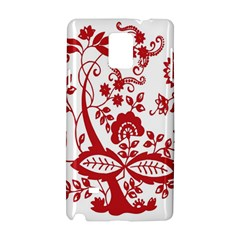 Red Vintage Floral Flowers Decorative Pattern Clipart Samsung Galaxy Note 4 Hardshell Case