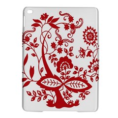 Red Vintage Floral Flowers Decorative Pattern Clipart iPad Air 2 Hardshell Cases