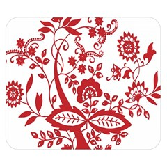 Red Vintage Floral Flowers Decorative Pattern Clipart Double Sided Flano Blanket (Small)