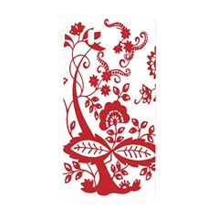 Red Vintage Floral Flowers Decorative Pattern Clipart Samsung Galaxy Alpha Hardshell Back Case