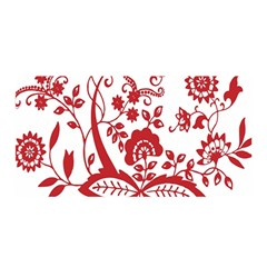 Red Vintage Floral Flowers Decorative Pattern Clipart Satin Wrap