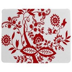 Red Vintage Floral Flowers Decorative Pattern Clipart Jigsaw Puzzle Photo Stand (rectangular)