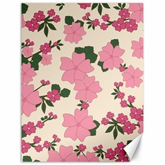 Vintage Floral Wallpaper Background In Shades Of Pink Canvas 18  X 24