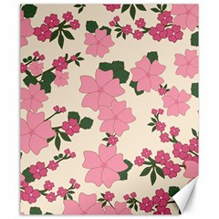 Vintage Floral Wallpaper Background In Shades Of Pink Canvas 20  x 24