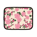 Vintage Floral Wallpaper Background In Shades Of Pink Netbook Case (Small)  Front