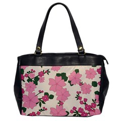 Vintage Floral Wallpaper Background In Shades Of Pink Office Handbags