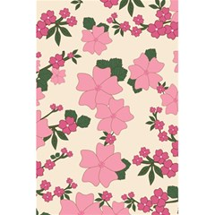 Vintage Floral Wallpaper Background In Shades Of Pink 5.5  x 8.5  Notebooks