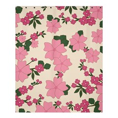 Vintage Floral Wallpaper Background In Shades Of Pink Shower Curtain 60  X 72  (medium)