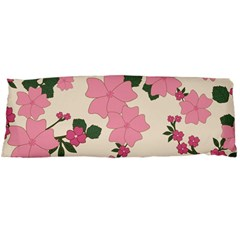 Vintage Floral Wallpaper Background In Shades Of Pink Body Pillow Case Dakimakura (Two Sides)