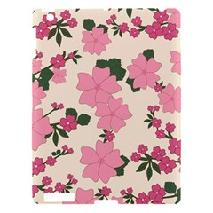 Vintage Floral Wallpaper Background In Shades Of Pink Apple iPad 3/4 Hardshell Case