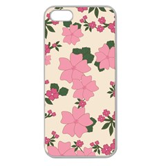Vintage Floral Wallpaper Background In Shades Of Pink Apple Seamless iPhone 5 Case (Clear)