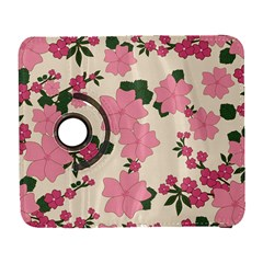 Vintage Floral Wallpaper Background In Shades Of Pink Galaxy S3 (flip/folio)