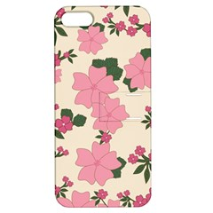 Vintage Floral Wallpaper Background In Shades Of Pink Apple iPhone 5 Hardshell Case with Stand