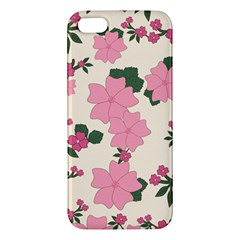 Vintage Floral Wallpaper Background In Shades Of Pink Apple iPhone 5 Premium Hardshell Case