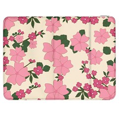 Vintage Floral Wallpaper Background In Shades Of Pink Samsung Galaxy Tab 7  P1000 Flip Case
