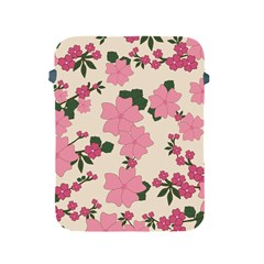 Vintage Floral Wallpaper Background In Shades Of Pink Apple iPad 2/3/4 Protective Soft Cases