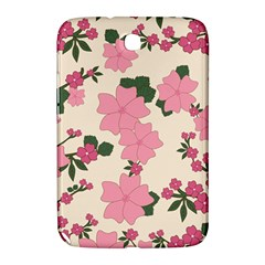 Vintage Floral Wallpaper Background In Shades Of Pink Samsung Galaxy Note 8.0 N5100 Hardshell Case