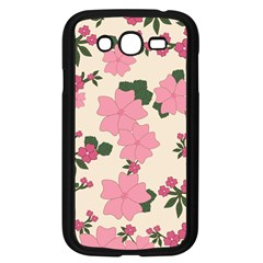 Vintage Floral Wallpaper Background In Shades Of Pink Samsung Galaxy Grand DUOS I9082 Case (Black)
