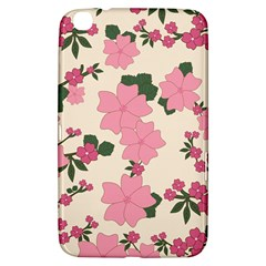 Vintage Floral Wallpaper Background In Shades Of Pink Samsung Galaxy Tab 3 (8 ) T3100 Hardshell Case