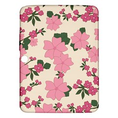 Vintage Floral Wallpaper Background In Shades Of Pink Samsung Galaxy Tab 3 (10.1 ) P5200 Hardshell Case