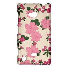 Vintage Floral Wallpaper Background In Shades Of Pink Nokia Lumia 720