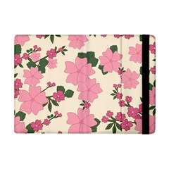 Vintage Floral Wallpaper Background In Shades Of Pink iPad Mini 2 Flip Cases
