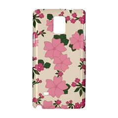 Vintage Floral Wallpaper Background In Shades Of Pink Samsung Galaxy Note 4 Hardshell Case