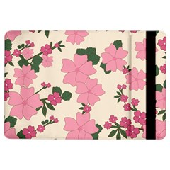 Vintage Floral Wallpaper Background In Shades Of Pink iPad Air 2 Flip