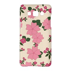 Vintage Floral Wallpaper Background In Shades Of Pink Samsung Galaxy A5 Hardshell Case