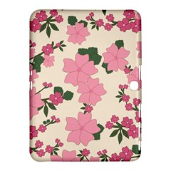 Vintage Floral Wallpaper Background In Shades Of Pink Samsung Galaxy Tab 4 (10.1 ) Hardshell Case