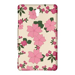Vintage Floral Wallpaper Background In Shades Of Pink Samsung Galaxy Tab S (8.4 ) Hardshell Case