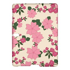 Vintage Floral Wallpaper Background In Shades Of Pink Samsung Galaxy Tab S (10 5 ) Hardshell Case