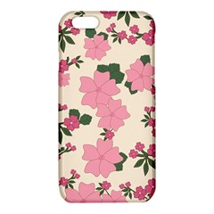 Vintage Floral Wallpaper Background In Shades Of Pink iPhone 6/6S TPU Case