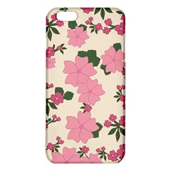 Vintage Floral Wallpaper Background In Shades Of Pink iPhone 6 Plus/6S Plus TPU Case