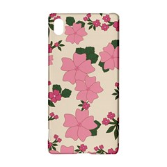 Vintage Floral Wallpaper Background In Shades Of Pink Sony Xperia Z3+