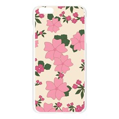 Vintage Floral Wallpaper Background In Shades Of Pink Apple Seamless iPhone 6 Plus/6S Plus Case (Transparent)